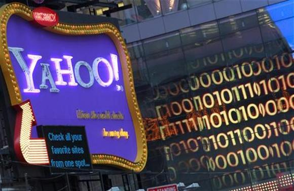 A Yahoo! billboard is seen in New York's Time's Square January 25, 2010. REUTERS/Brendan McDermid/Files
