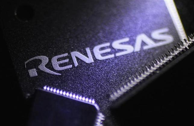 Renesas Electronics Corp's chips are pictured at the company's office in Tokyo October 23, 2012. REUTERS/Yuriko Nakao/Files