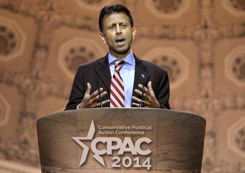 Louisiana Gov. Bobby Jindal makes remarks to the Conservative Political Action Conference (CPAC) in Oxon Hill, Maryland, March 6, 2014. REUTERS/Mike Theiler