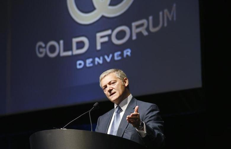 Peter Marrone, CEO of Yamana Gold Inc speaks at the Denver Gold Forum industry conference in Denver September 24, 2013. REUTERS/Rick Wilking