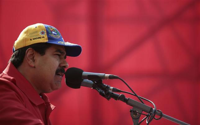 Venezuela President Nicolas Maduro speaks during a rally to commemorate the 20th anniversary of late Hugo Chavez being freed from jail, in Caracas March 26, 2014 file photo. REUTERS/Miraflores Palace/Handout via Reuters