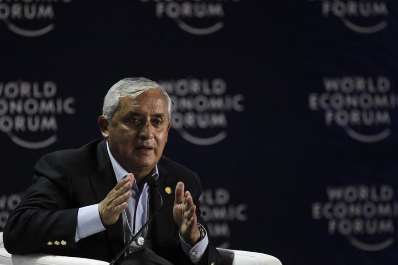Guatemala's President Otto Perez Molina, speaks during the opening of the inauguration of the World Economic Forum on Latin America, in Panama City April 2, 2014. REUTERS/Carlos Jasso