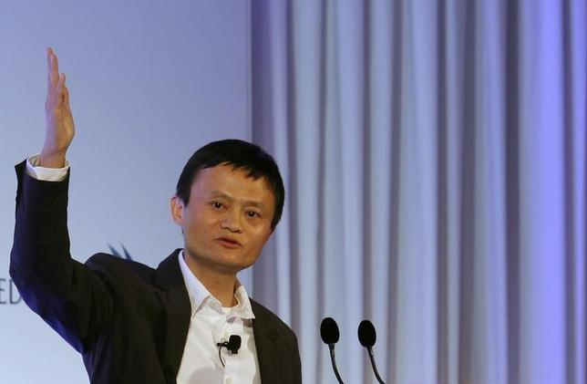 Jack Ma, the chairman of China's largest e-commerce firm Alibaba Group, speaks during a conference in Hong Kong March 20, 2013. REUTERS/Bobby Yip