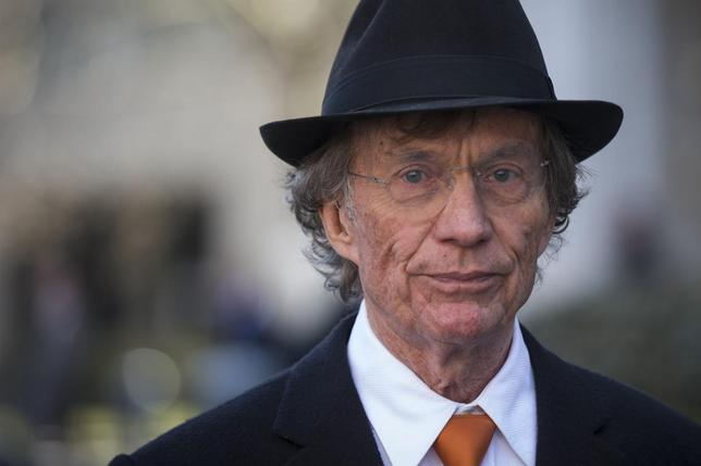 Texas investor Samuel Wyly exits the Manhattan Federal Court in New York, April 3, 2014. REUTERS/Brendan McDermid