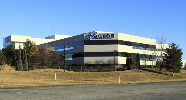 The main entrance to Micron corporate headquarters in Boise, Idaho, February 3, 2012. REUTERS/Brian Losness