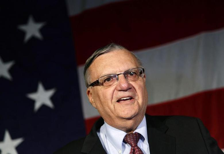 Maricopa County Sheriff Joe Arpaio speaks during the Republican Party election night event in Phoenix, Arizona November 6, 2012. REUTERS/Joshua Lott