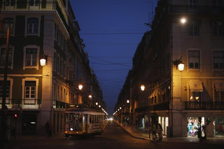 A tram is seen in downtown Lisbon September 3, 2013. REUTERS/Rafael Marchante