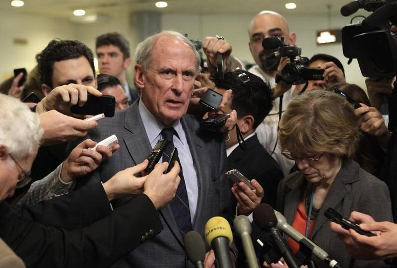 Senator Dan Coats (R-IN) talks to the media after former CIA Director David Petraeus testified at a Senate Intelligence Committee closed hearing on Capitol Hill in Washington, November 16, 2012. REUTERS/Yuri Gripas