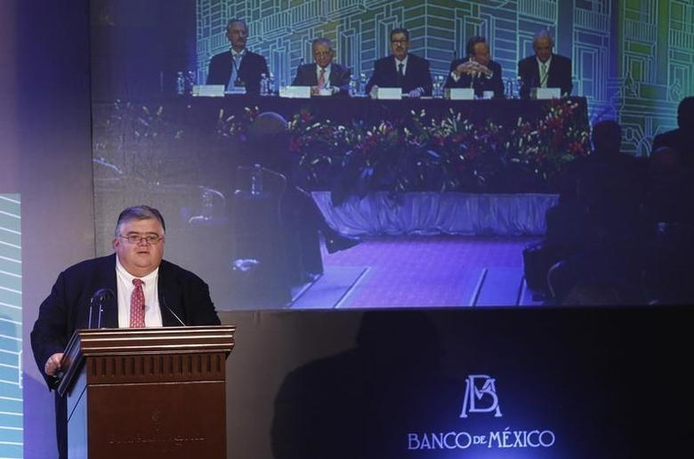 Mexico's Central Bank Governor Agustin Carstens attends a forum organised by Mexico's Central Bank in Mexico City October 15, 2013. REUTERS/Tomas Bravo