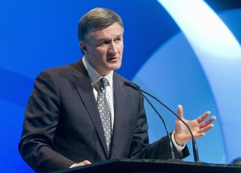 Enbridge President and CEO Al Monaco speaks during the IHS CERAWeek energy conference in Houston March 6, 2013. REUTERS/Richard Carson
