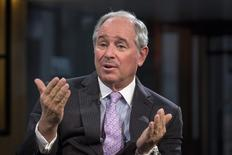 """Stephen A. Schwarzman, Chairman and Chief Executive Officer of The Blackstone Group, speaks during an interview with Maria Bartiromo, on her Fox Business Network show; """"Opening Bell with Maria Bartiromo"""" in New York February 27, 2014. REUTERS/Brendan McDermid"""