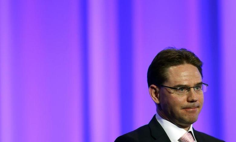 Finland's Prime Minister Jyrki Katainen speaks at the European People's Party (EPP) Elections Congress in Dublin March 7, 2014. REUTERS/Suzanne Plunkett
