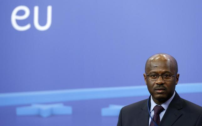 Mali's Prime Minister Oumar Tatam Ly speaks during a joint news conference with European Council President Herman van Rompuy (unseen) in Brussels February 5, 2014. REUTERS/Francois Lenoir