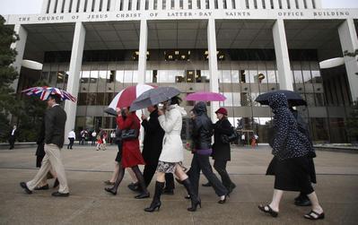Mormon women, seeking wider role, denied entrance to...