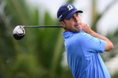 Matt Kuchar tees off from the 6th tee during the first round of the WGC - Cadillac Championship golf tournament at TPC Blue Monster at Trump National Doral. Mandatory Credit: Andrew Weber-USA TODAY Sports