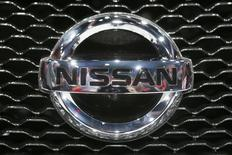 A Nissan logo is pictured during the 2013 Los Angeles Auto Show in Los Angeles, California November 20, 2013. REUTERS/Lucy Nicholson