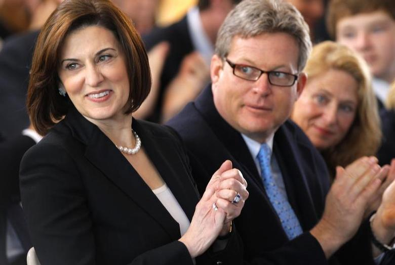 Victoria Kennedy (L) and Ted Kennedy Jr. attend the groundbreaking ceremony for The Edward M. Kennedy Institute for the U.S. Senate in Boston, Massachusetts April 8, 2011. REUTERS/Adam Hunger