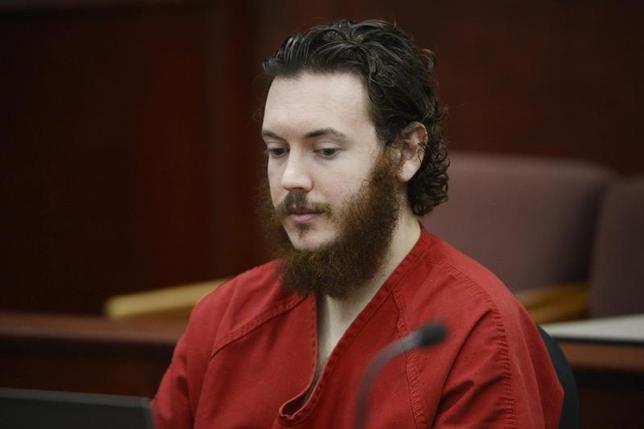 James Holmes sits in court for an advisement hearing at the Arapahoe County Justice Center in Centennial, Colorado June 4, 2013. REUTERS/Andy Cross