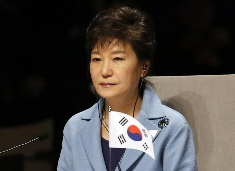 South Korea's President Park Geun-hye attends the opening session of the Nuclear Security Summit (NSS) in The Hague March 24, 2014. REUTERS/Yves Herman
