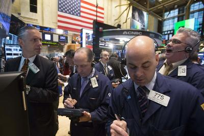 Wall Street stocks rise as dollar, euro drop against...