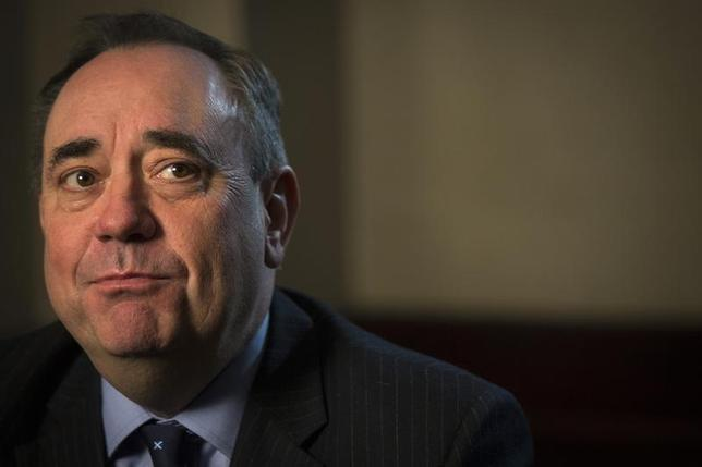 First Minister of Scotland Alex Salmond looks on during an interview with Reuters in New York, April 4, 2014. REUTERS/Brendan McDermid