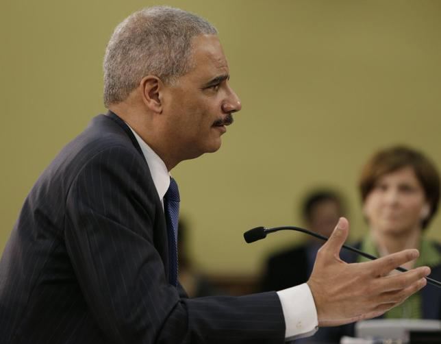 United States Attorney General Eric Holder appears before the House Appropriations Commerce, Justice, Science and Related Agencies subcommittee, on Capitol Hill in Washington April 4, 2014. REUTERS/Gary Cameron