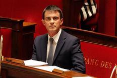 El primer ministro francés Manuel Valls en la Asamblea Nacional, París, abr 8, 2014. El nuevo primer ministro francés, Manuel Valls, dijo el miércoles que en los próximos días aclararía el ritmo al que el país reduciría su déficit público. REUTERS/Charles Platiau