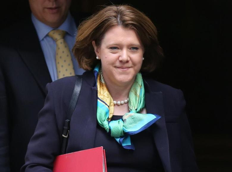 Britain's Minister for Culture, Media and Sport Maria Miller leaves 10 Downing Street after a cabinet meeting in central London April 8, 2014. REUTERS/Paul Hackett