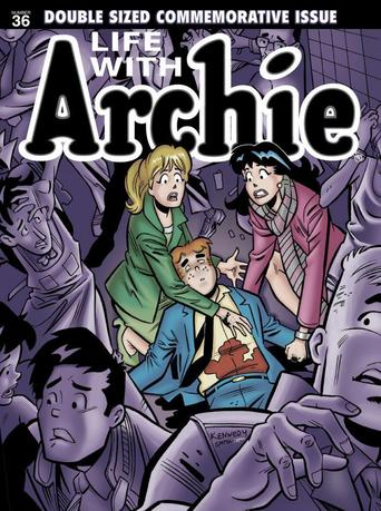 The cover of ''Life with Archie #36'' is shown in this undated handout image from Archie Comics released April 9, 2014. REUTERS/Handout/Archie Comics