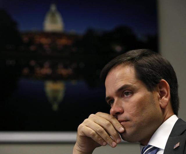 U.S. Senator Marco Rubio (R-FL) is interviewed at the Reuters Health Summit 2014 in Washington April 1, 2014. REUTERS/Gary Cameron