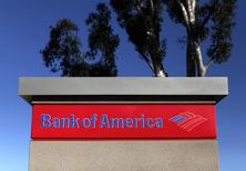 A Bank of America sign is pictured in Encinitas, California in this file photo taken January 14, 2014. REUTERS/Mike Blake/Files