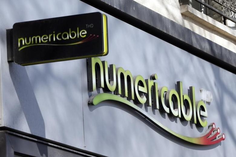 General view of the logo above a store of French cable operator Numericable in Paris, March 7, 2014. REUTERS/Charles Platiau