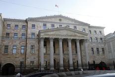 Вид на здание Генпрокуратуры России в Москве 20 января 2010 года. HP заплатит США многомиллионный штраф за взятки в РФ и других странах. REUTERS/Alexander Natruskin