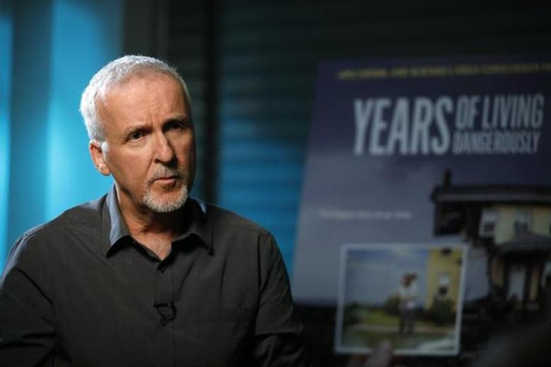 Director James Cameron is interviewed in Manhattan Beach, California April 8, 2014. REUTERS/Lucy Nicholson