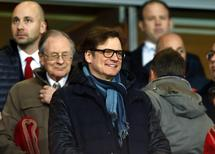 British actor Colin Firth attends the Champions League round of 16 first leg soccer match between Arsenal and Bayern Munich at the Emirates Stadium in London February 19, 2014. REUTERS/Eddie Keogh