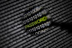 File picture illustration of the word 'password' pictured through a magnifying glass on a computer screen, taken in Berlin May 21, 2013. REUTERS/Pawel Kopczynski/Files
