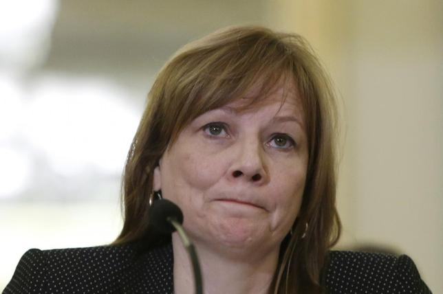 General Motors CEO Mary Barra testifies before the Senate Commerce and Transportation Consumer Protection, Product Safety and Insurance subcommittee in Washington April 2, 2014. REUTERS/Gary Cameron