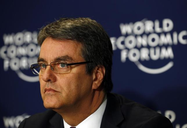 World Trade Organization (WTO) Director-General Roberto Azevedo attends a session at the World Economic Forum (WEF) in Davos January 25, 2014. REUTERS/Denis Balibouse