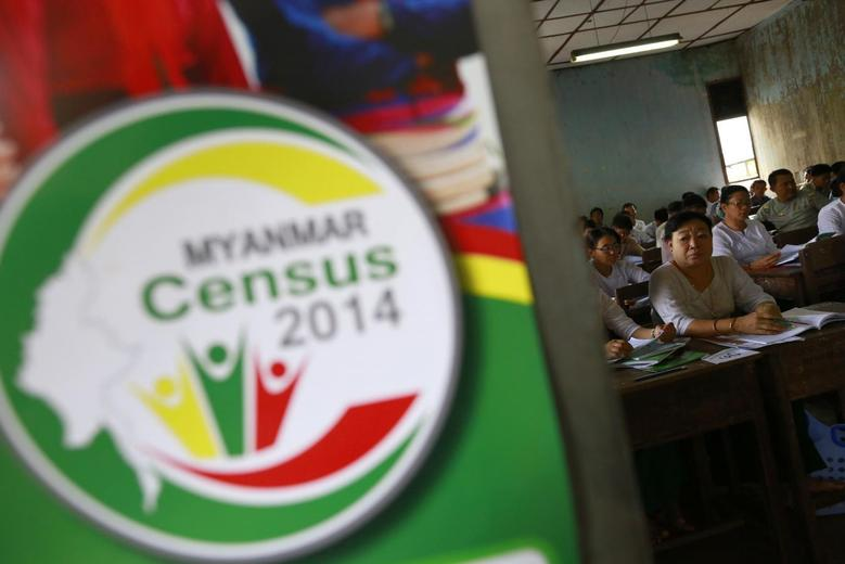 Volunteers attend a census training course at a school in Yangon March 23, 2014. REUTERS/Soe Zeya Tun