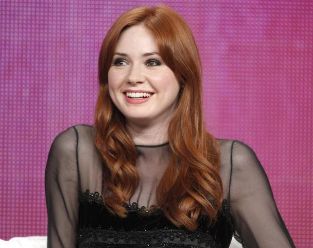 Karen Gillan is seen during a press tour in Beverly Hills, California July 28, 2011. REUTERS/Fred Prouser