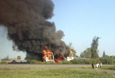 Truck in deadly California crash on fire before...