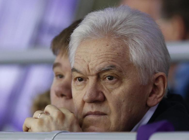 Russian businessman Gennady Timchenko attends the men's qualification ice hockey game between Russia and Norway at the Sochi 2014 Winter Olympic Games, February 18, 2014. REUTERS/Grigory Dukor