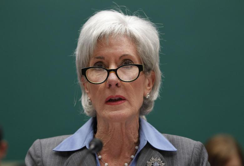 U.S. Secretary of Health and Human Services Kathleen Sebelius testifies before a House Energy and Commerce Committee hearing about issues and complications with the Affordable Care Act enrollment website, on Capitol Hill in Washington, October 30, 2013. REUTERS/Jason Reed