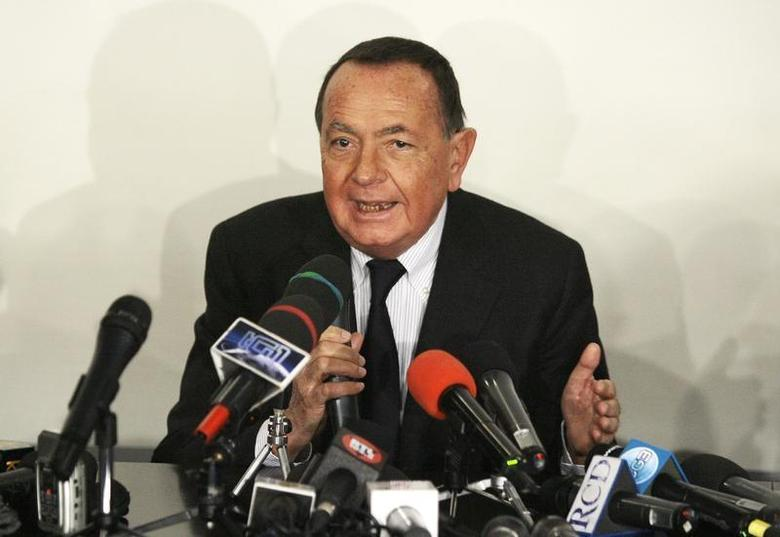 Paolo Bonaiuti, spokesman for the Italy's Prime Minister Silvio Berlusconi, speaks during a news conference at the San Raffaele Hospital where Berlusconi was hospitalized in Milan December 14, 2009. REUTERS/Alessandro Garofalo