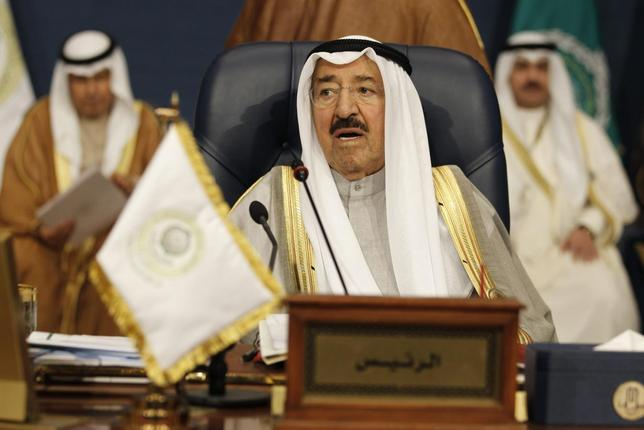 Amir of Kuwait Sheikh Sabah al-Ahmad al-Sabah attends the closing ceremony of the 25th Arab Summit in Kuwait City, March 26, 2014. REUTERS/Hamad I Mohammed