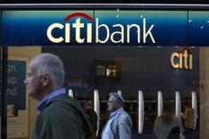 Fachada de uma agência do Citibank em Nova York. O lucro líquido trimestral do Citigroup cresceu 4 por cento apoiado em perdas menores com ativos que compensaram queda na receita e no lucro gerado por negócios com corretagem de títulos e empréstimos. 15/10/2013. REUTERS/Andrew Kelly