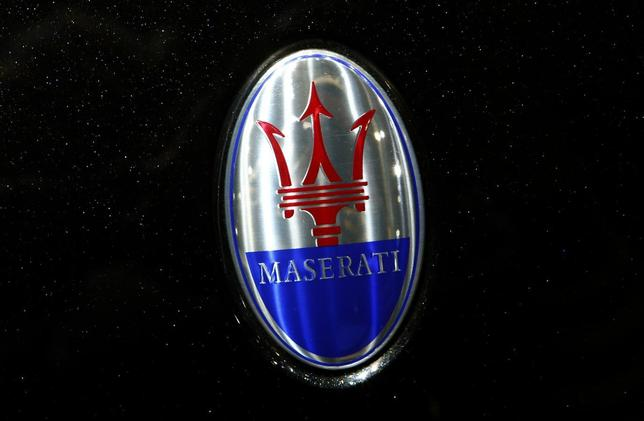 The company logo is seen on the bonnet of a Maserati car during the media day ahead of the 84th Geneva Motor Show at the Palexpo Arena in Geneva March 5, 2014. REUTERS/Arnd Wiegmann