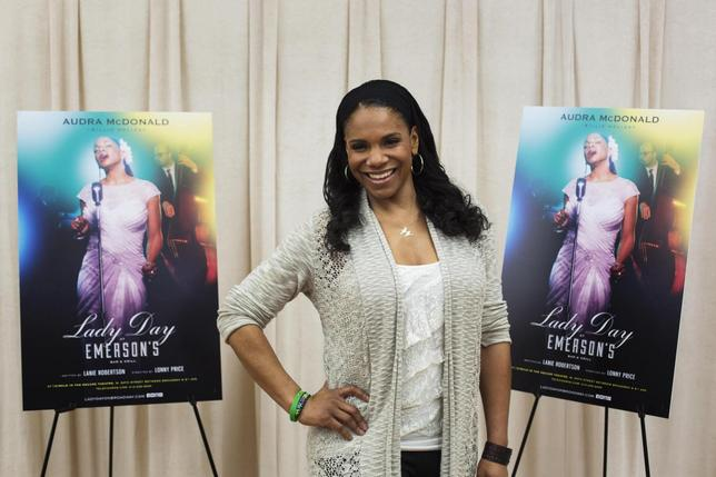 Actress Audra McDonald poses for a photograph while promoting the play ''Lady Day at Emerson's Bar and Grill'' in New York March 17, 2014. REUTERS/Lucas Jackson