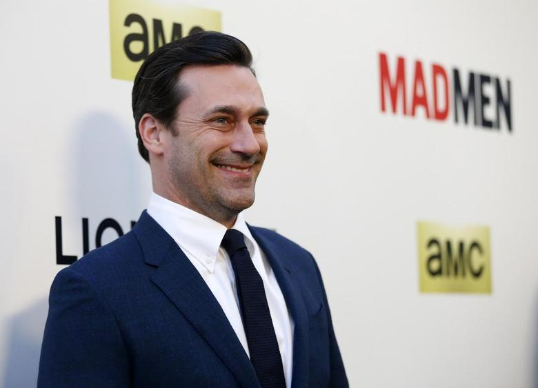Cast member Jon Hamm poses at the premiere for the seventh season of the television series ''Mad Men'' in Los Angeles, California April 2, 2014. REUTERS/Mario Anzuoni