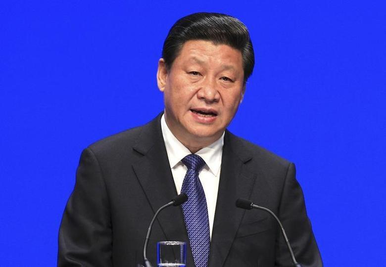 China's President Xi Jinping speaks at the College of Europe at the Concert Hall in Bruges, northern Belgium April 1, 2014. REUTERS/Yves Logghe/Pool
